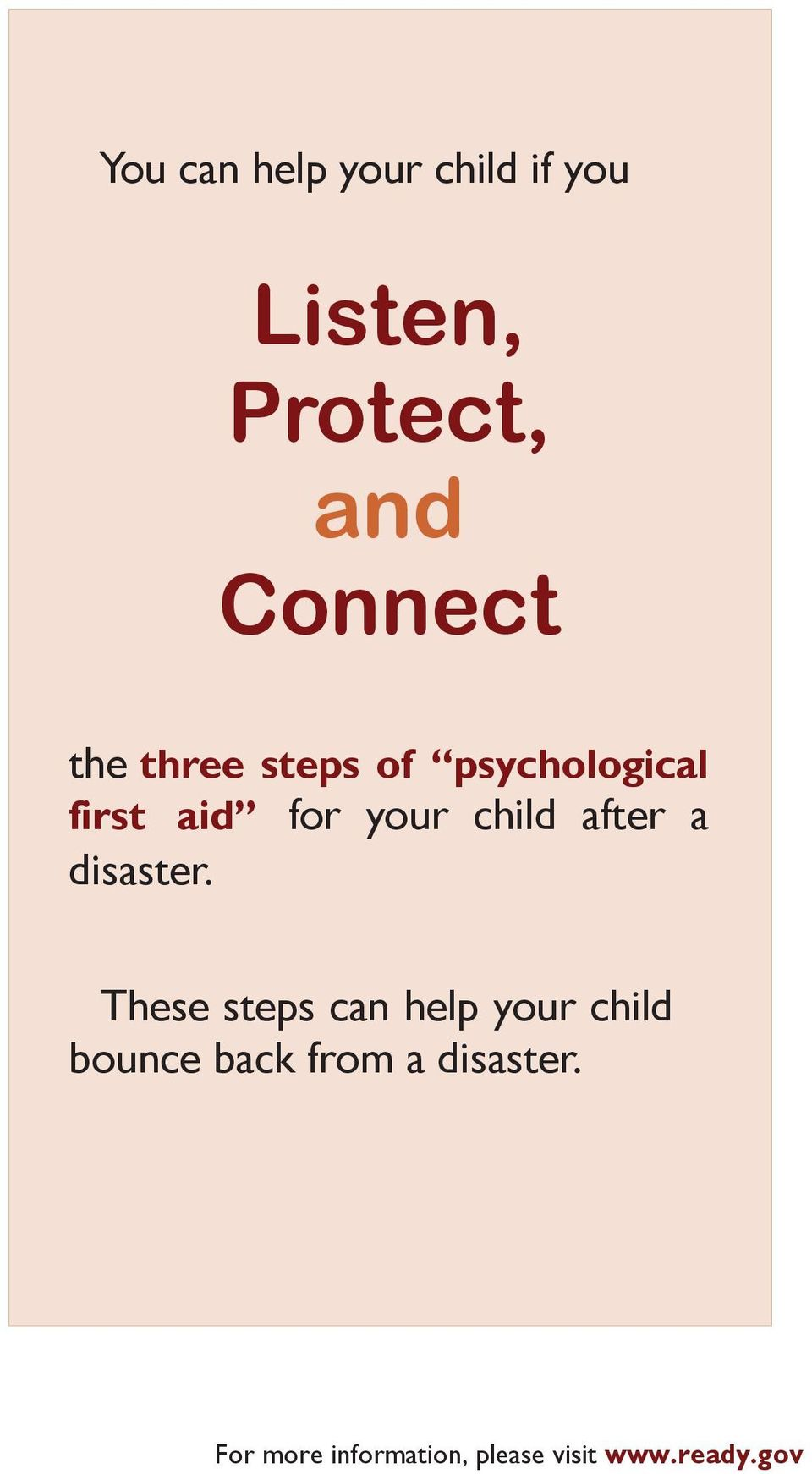 psychological first aid for your child after a