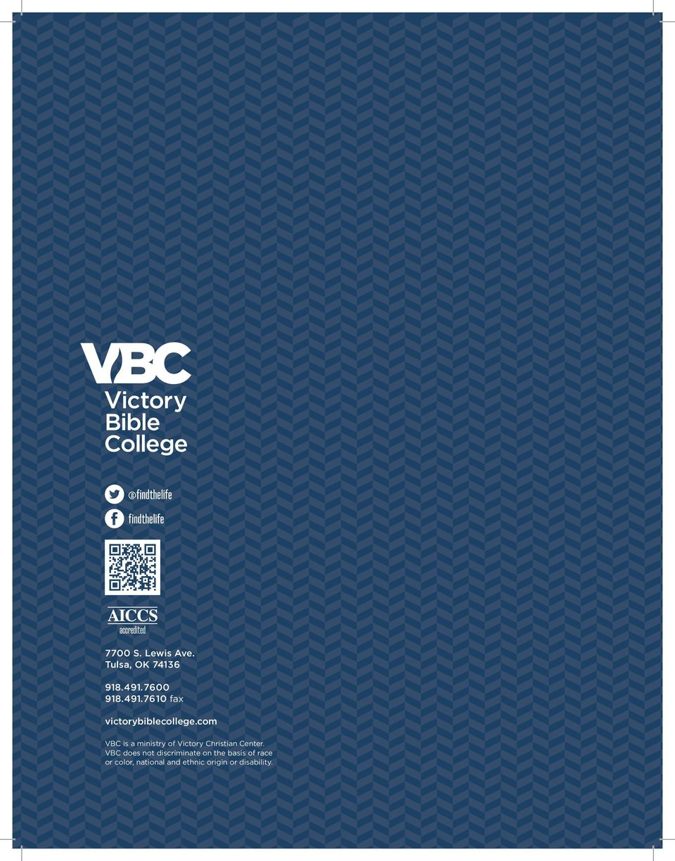 com VBC is a ministry of Victory Christian Center.