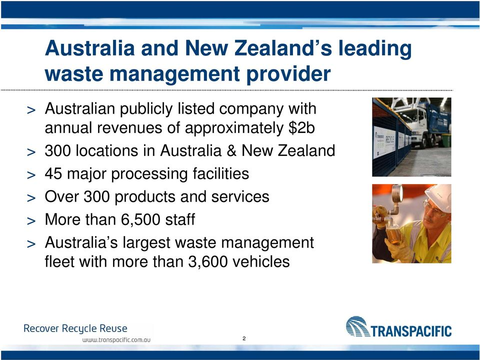 New Zealand > 45 major processing facilities > Over 300 products and services > More