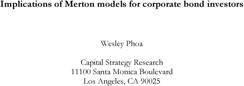 Capital Strategy Research 11100