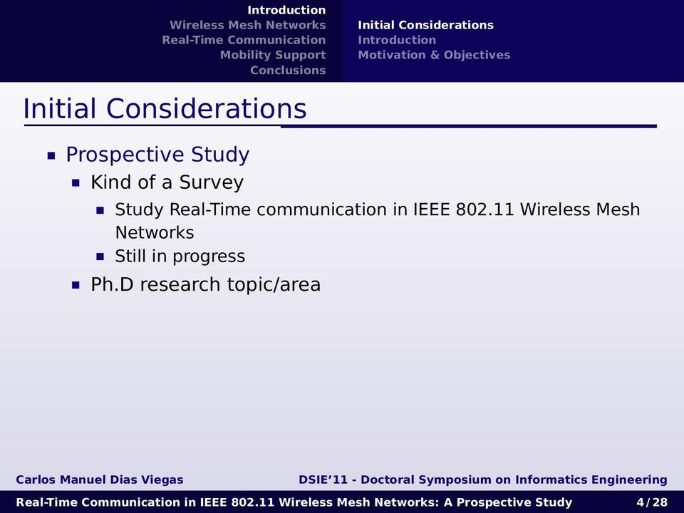 Real-Time communication in IEEE 802.
