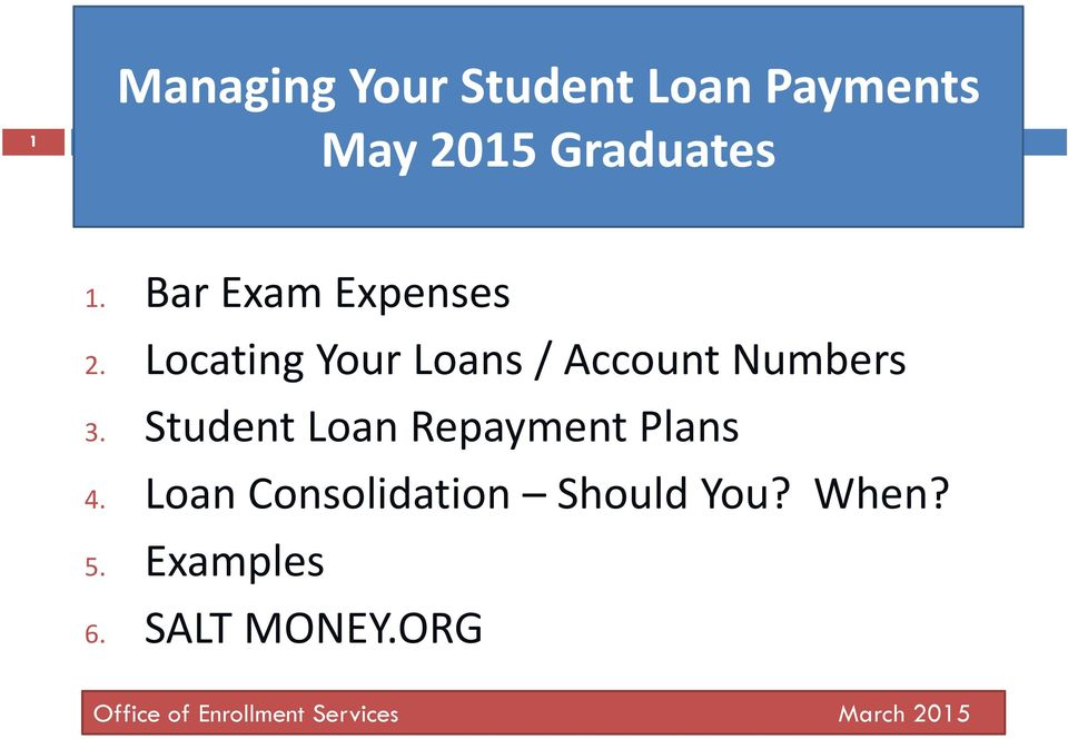 Student Loan Repayment Plans 4. Loan Consolidation Should You?