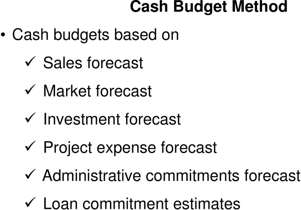 forecast Project expense forecast
