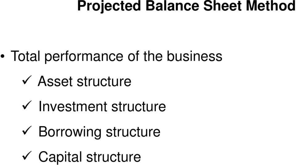 Asset structure Investment