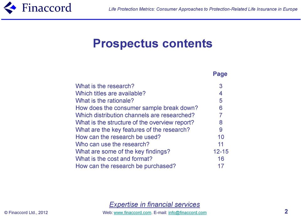 What is the structure of the overview report? What are the key features of the research?