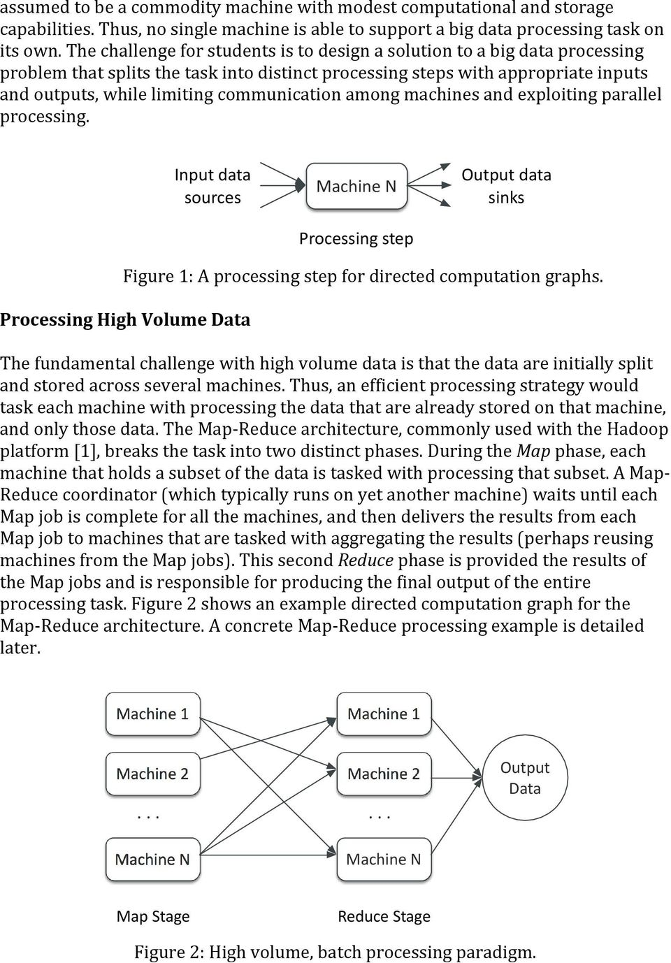 communication among machines and exploiting parallel processing. Figure 1: A processing step for directed computation graphs.