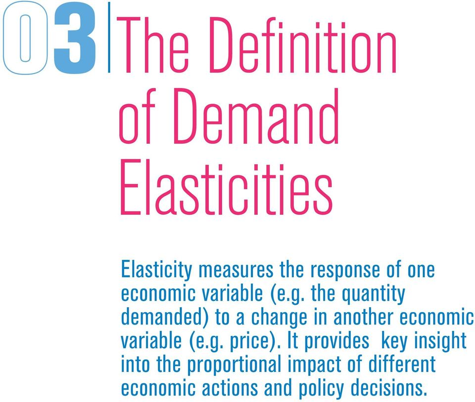 the quantity demanded) to a change in another economic variable (e.g. price).