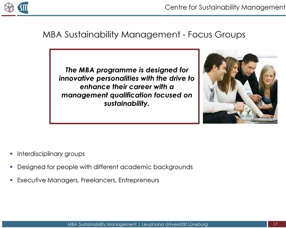 qualification focused on sustainability.