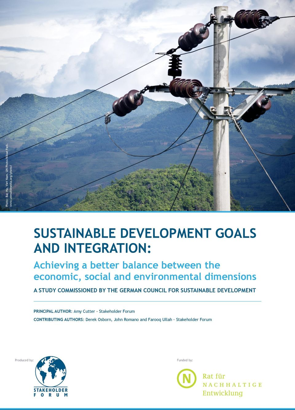 social and environmental dimensions A STUDY COMMISSIONED BY THE GERMAN COUNCIL FOR SUSTAINABLE DEVELOPMENT