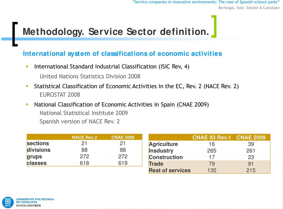 2008 Statistical Classification of Economic Activities in the EC, Rev. 2 (NACE Rev.