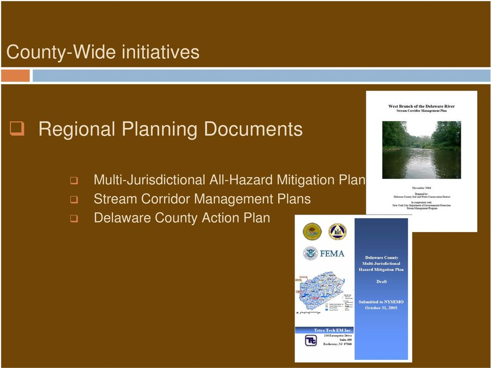 All-Hazard Mitigation Plan Stream