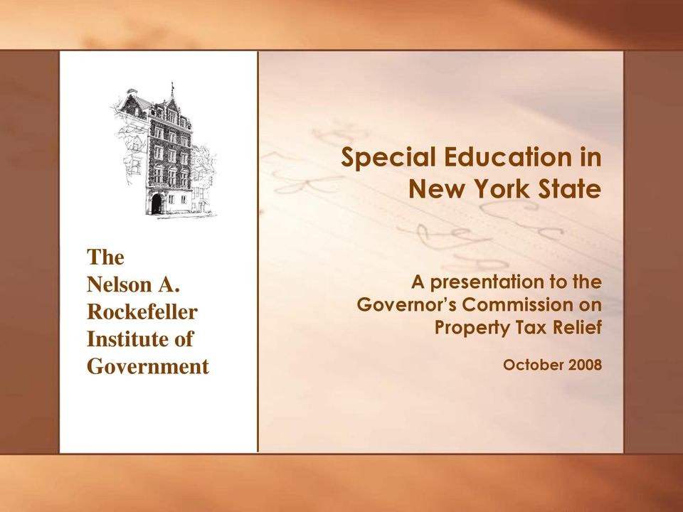 Rockefeller Institute of Government A