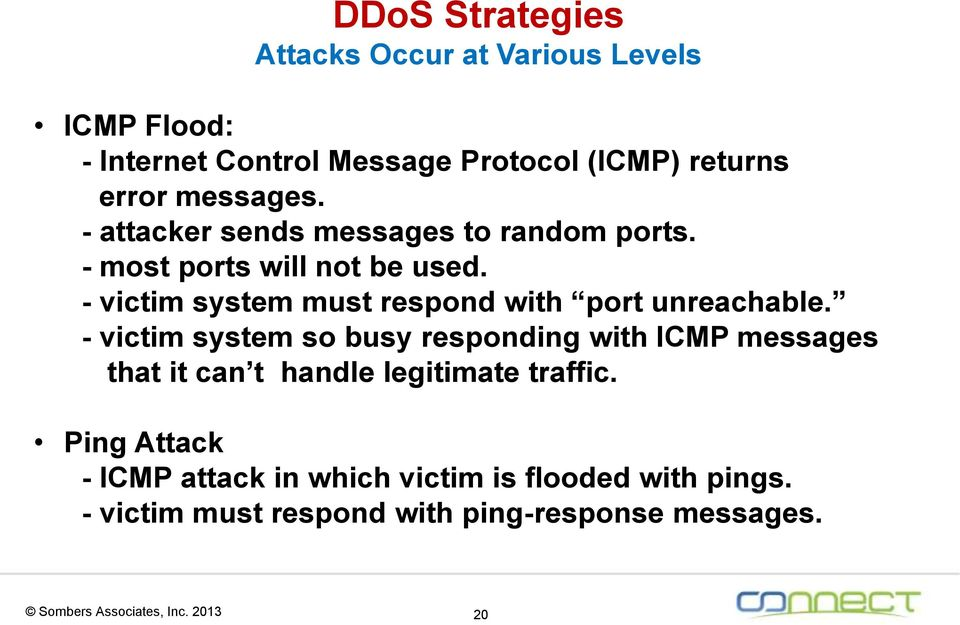 - victim system must respond with port unreachable.