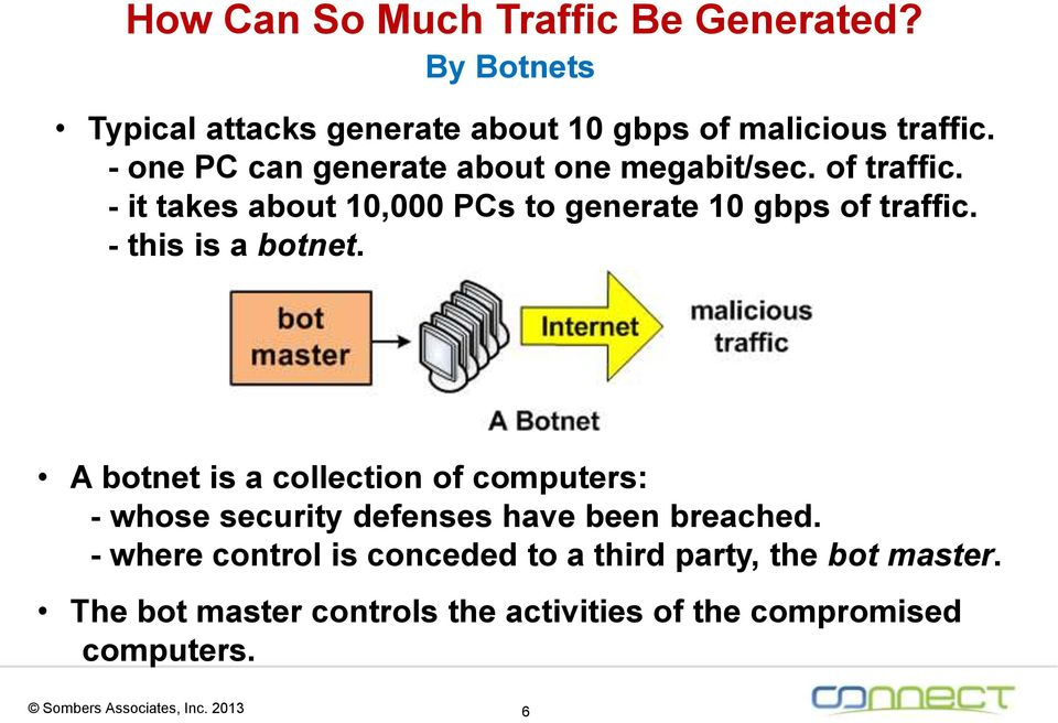 - this is a botnet. A botnet is a collection of computers: - whose security defenses have been breached.