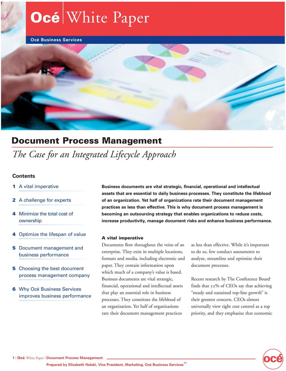 Yet half of organizations rate their document management practices as less than effective.