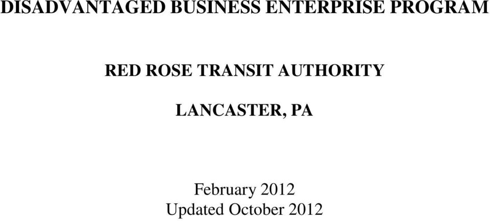 TRANSIT AUTHORITY LANCASTER,
