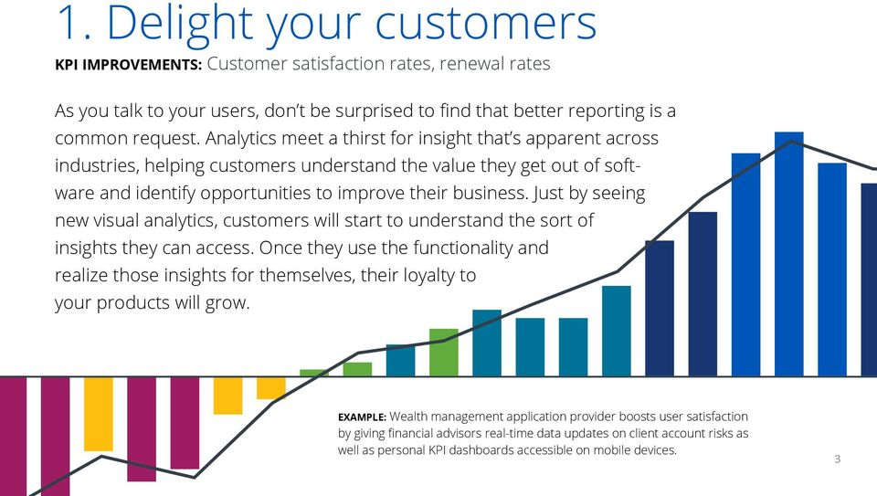 Just by seeing new visual analytics, customers will start to understand the sort of insights they can access.