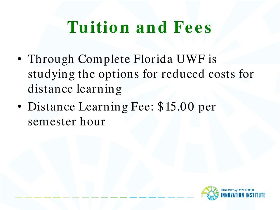 reduced costs for distance learning