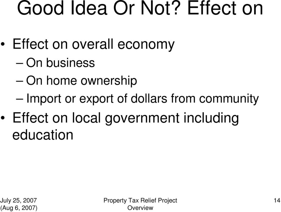 business On home ownership Import or export