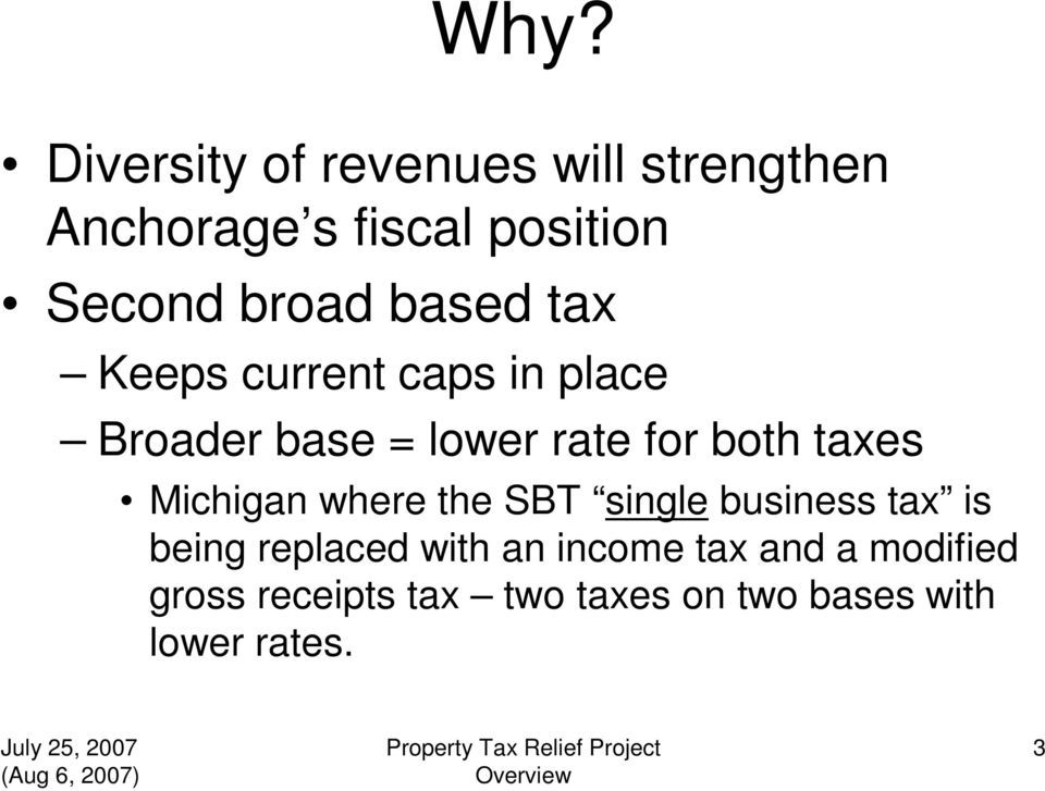 taxes Michigan where the SBT single business tax is being replaced with an