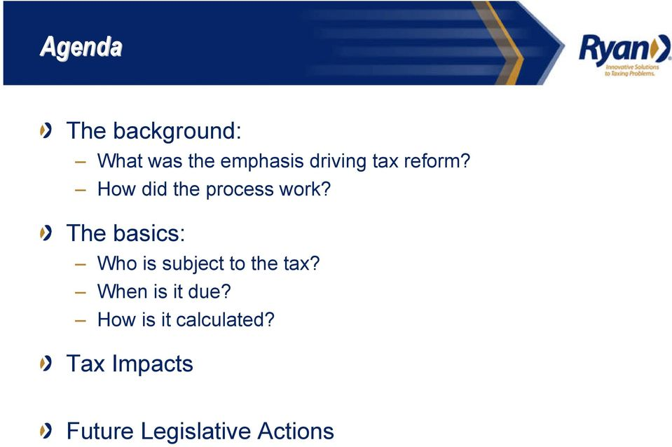 The basics: Who is subject to the tax?