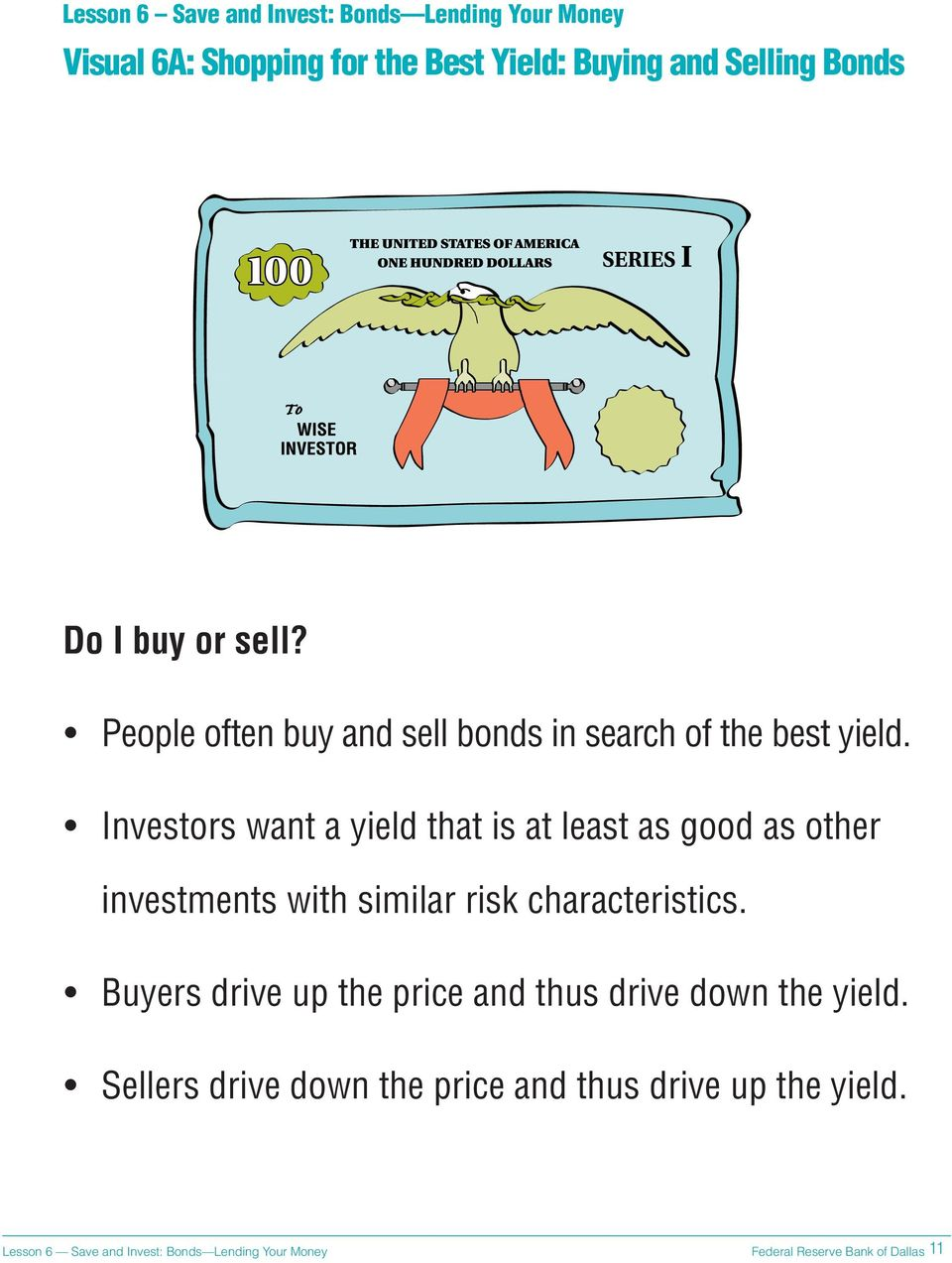 Investors want a yield that is at least as good as other investments with similar risk