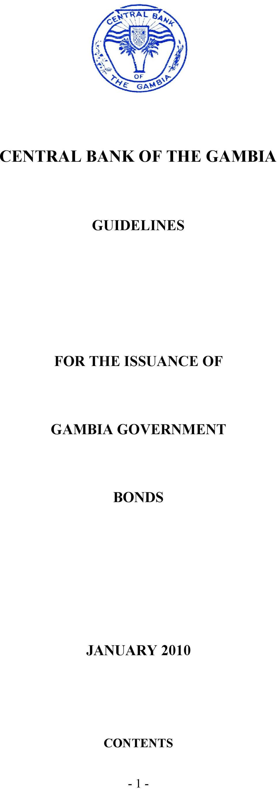 OF GAMBIA GOVERNMENT BONDS