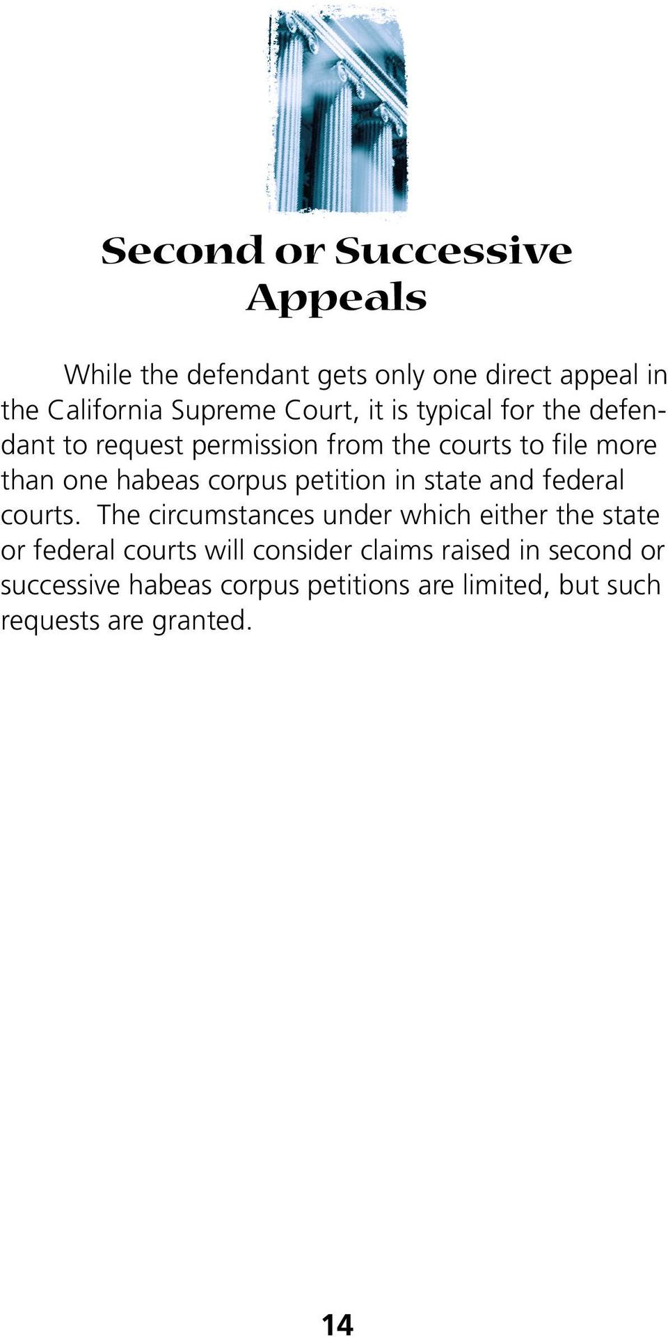 petition in state and federal courts.
