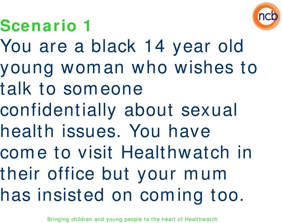 sexual health issues.