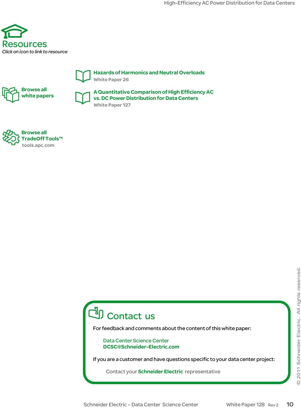 com Contact us For feedback and comments about the content of this white paper: Data Center Science Center DCSC@Schneider-Electric.