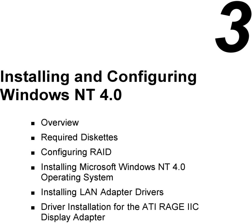 Installing Microsoft Windows NT 4.0 Operating System!