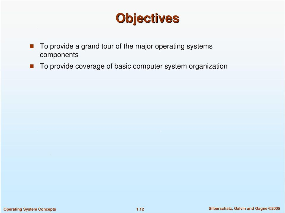 provide coverage of basic computer system