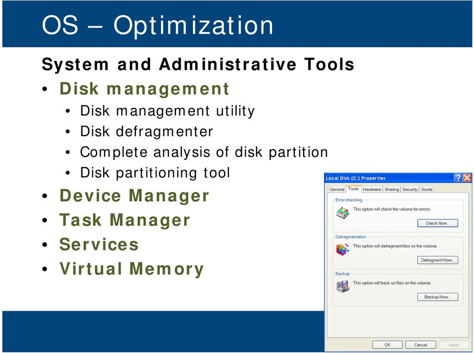 Complete analysis of disk partition Disk partitioning