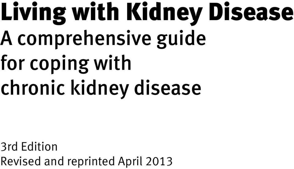 with chronic kidney disease 3rd