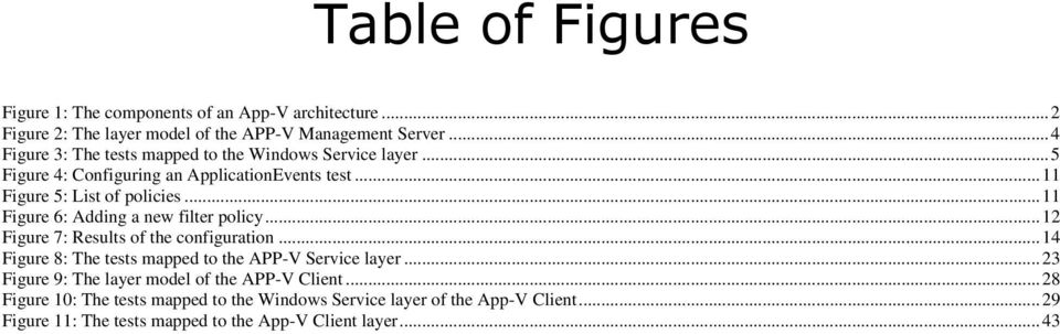 .. 11 Figure 6: Adding a new filter policy... 12 Figure 7: Results of the configuration... 14 Figure 8: The s mapped to the APP-V Service layer.