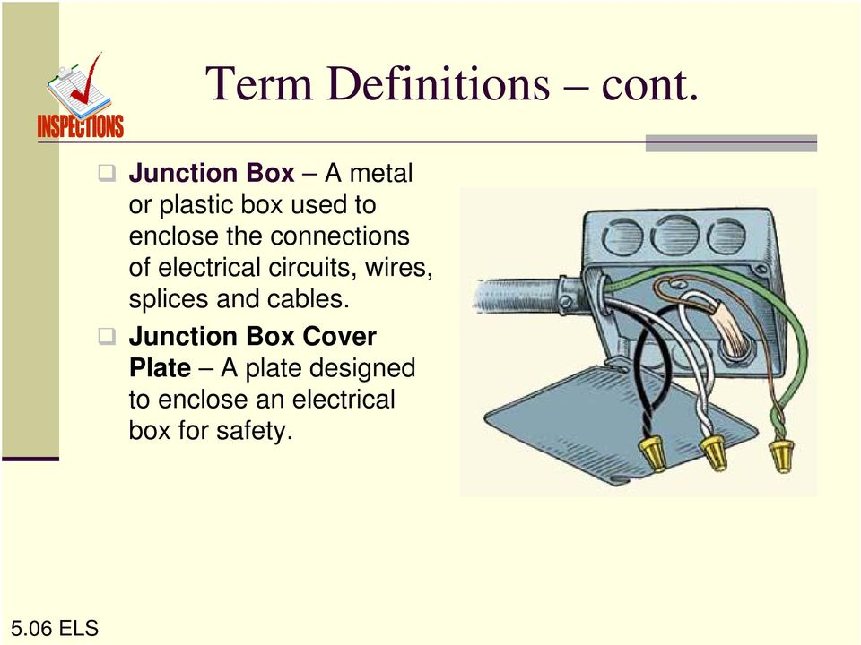 connections of electrical circuits, wires, splices and