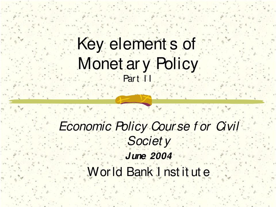 Policy Course for Civil