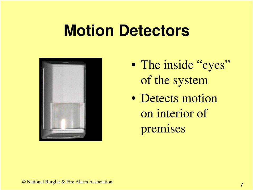 system Detects motion