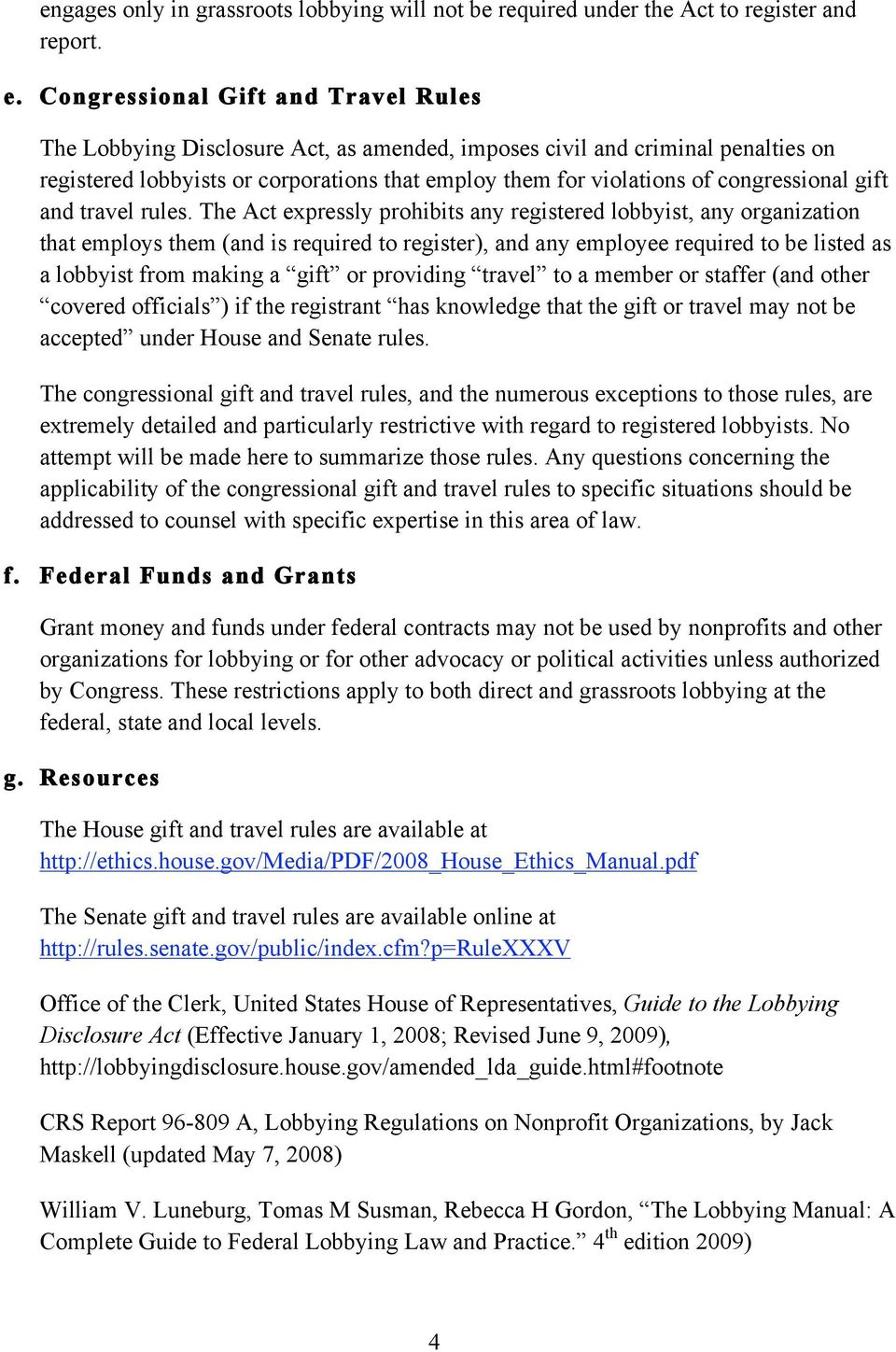 congressional gift and travel rules.