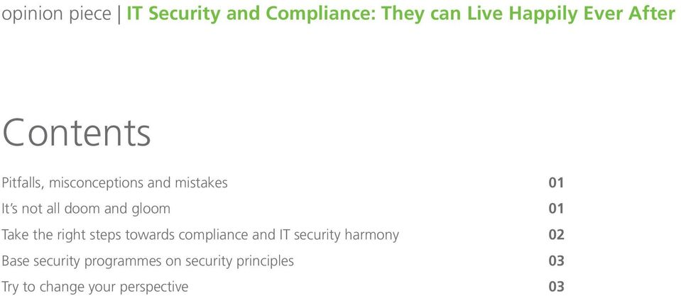compliance and IT security harmony 02 Base security