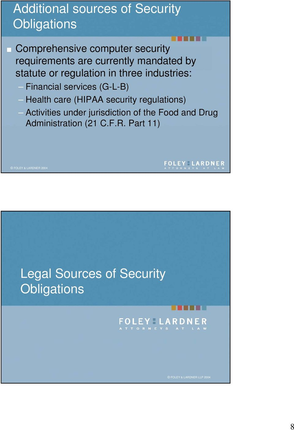 Health care (HIPAA security regulations) Activities under jurisdiction of the Food and Drug