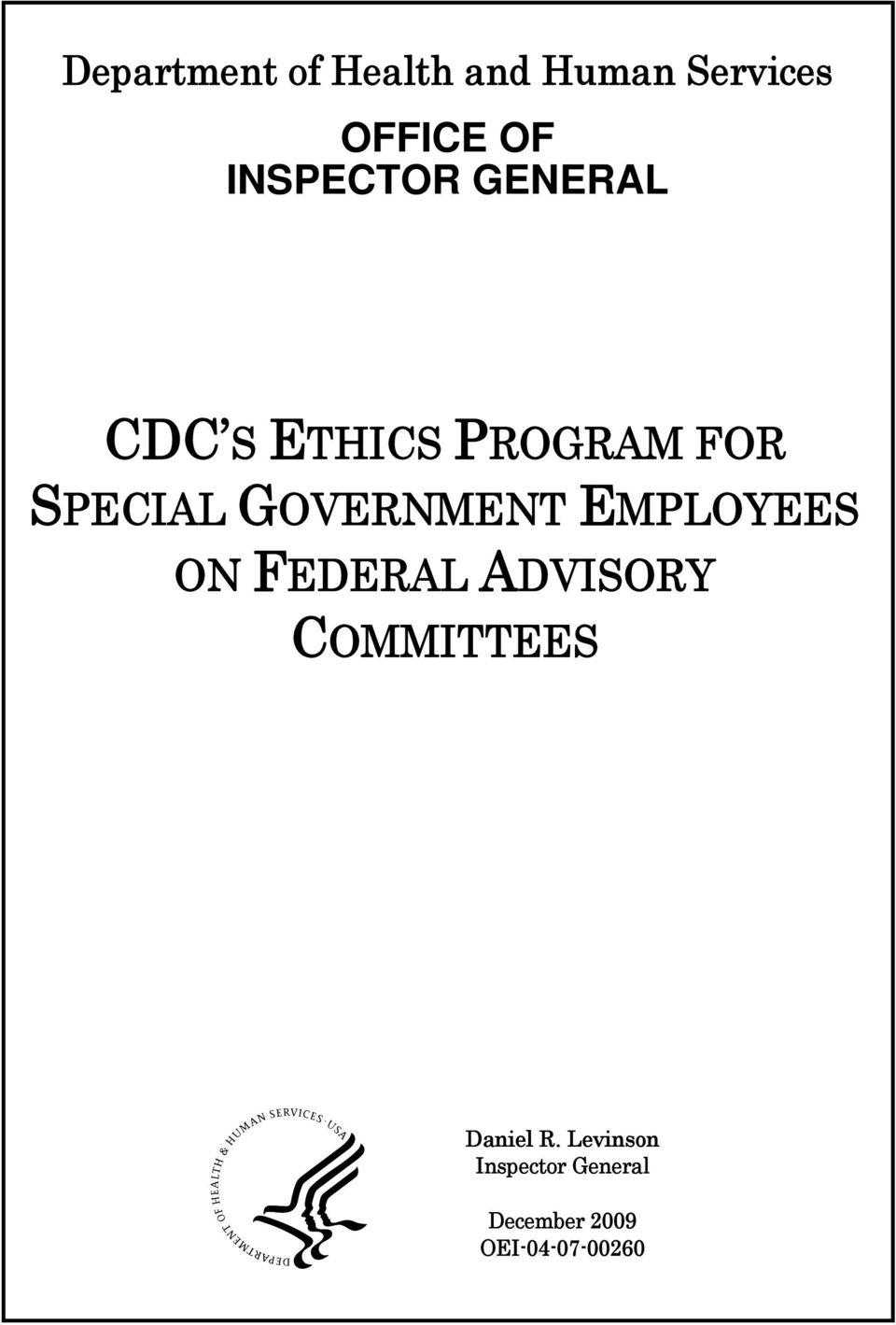 GOVERNMENT EMPLOYEES ON FEDERAL ADVISORY COMMITTEES