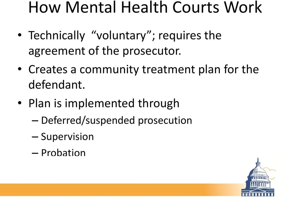 Creates a community treatment plan for the defendant.