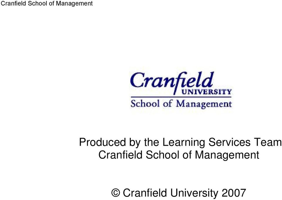 Cranfield School of