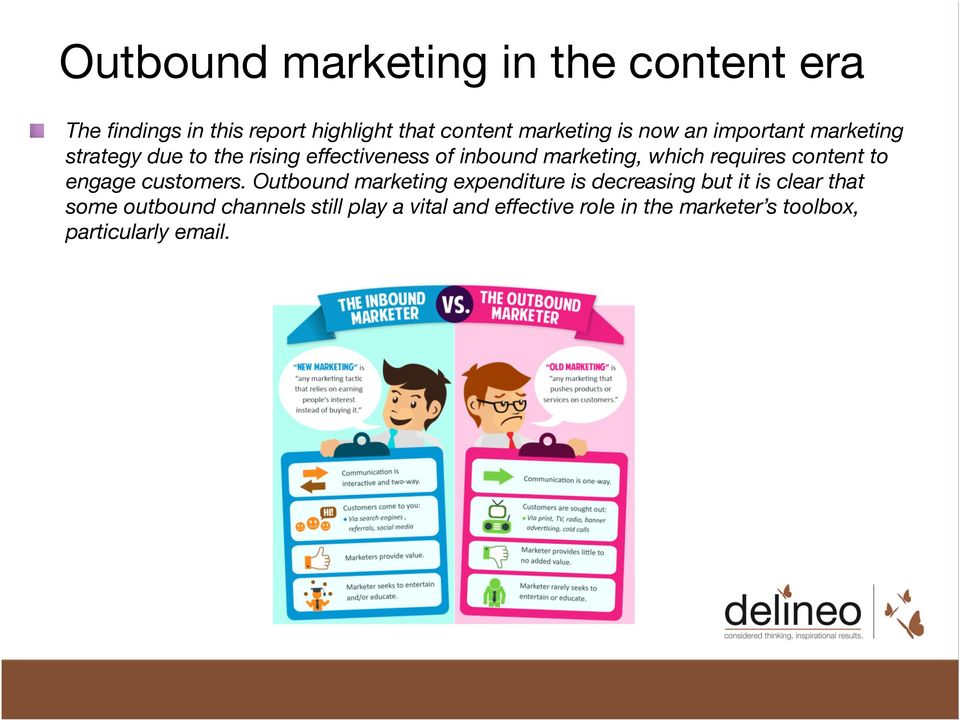 due to the rising effectiveness of inbound marketing, which requires content to engage customers.