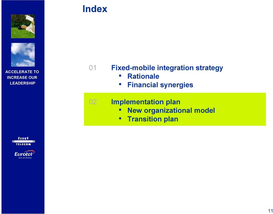 synergies 02 Implementation plan