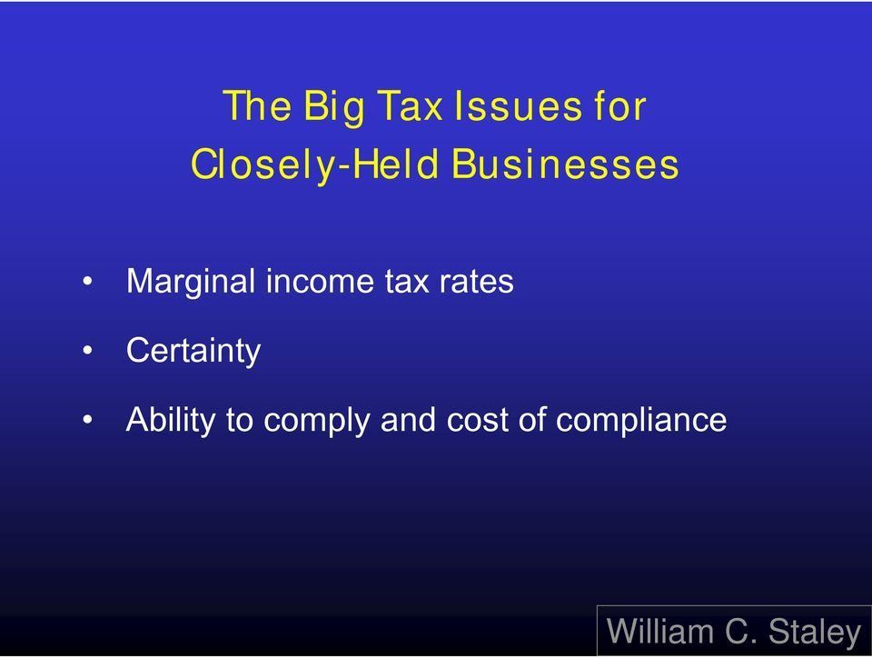 Marginal income tax rates