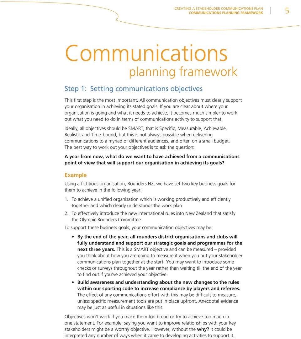 If you are clear about where your organisation is going and what it needs to achieve, it becomes much simpler to work out what you need to do in terms of communications activity to support that.