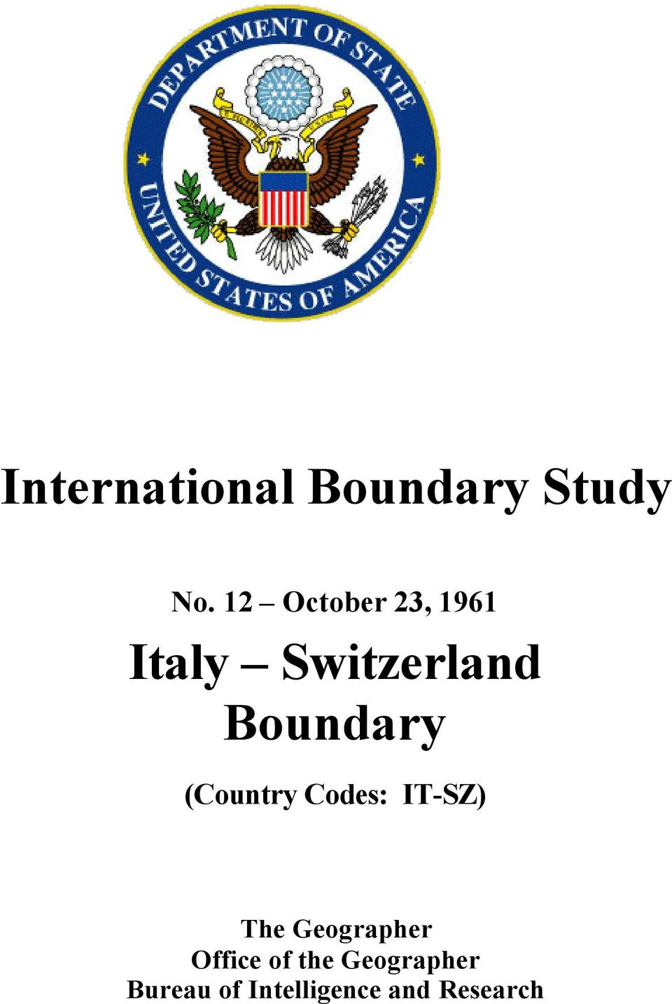Boundary (Country Codes: IT-SZ) The