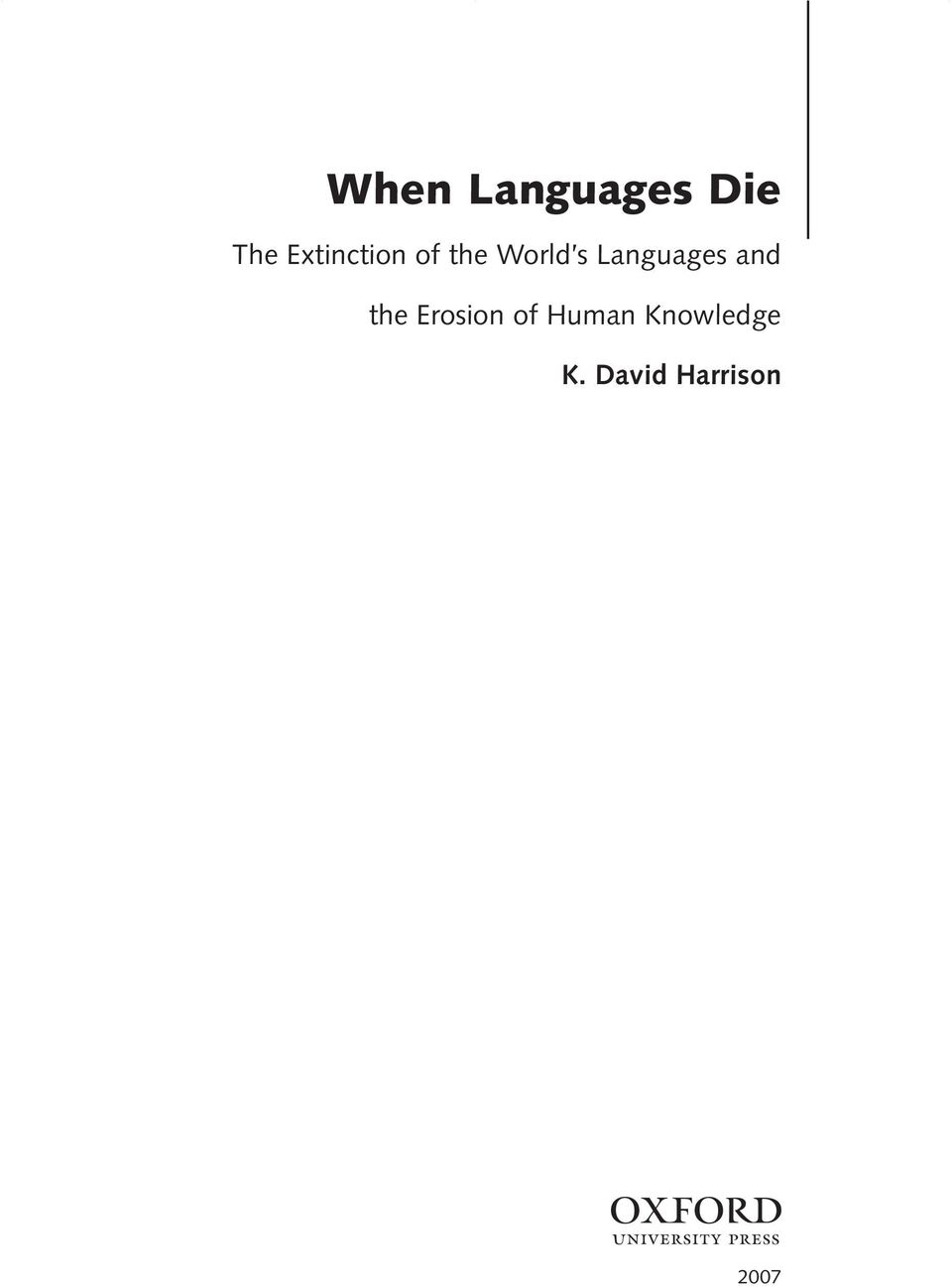 Languages and the Erosion of